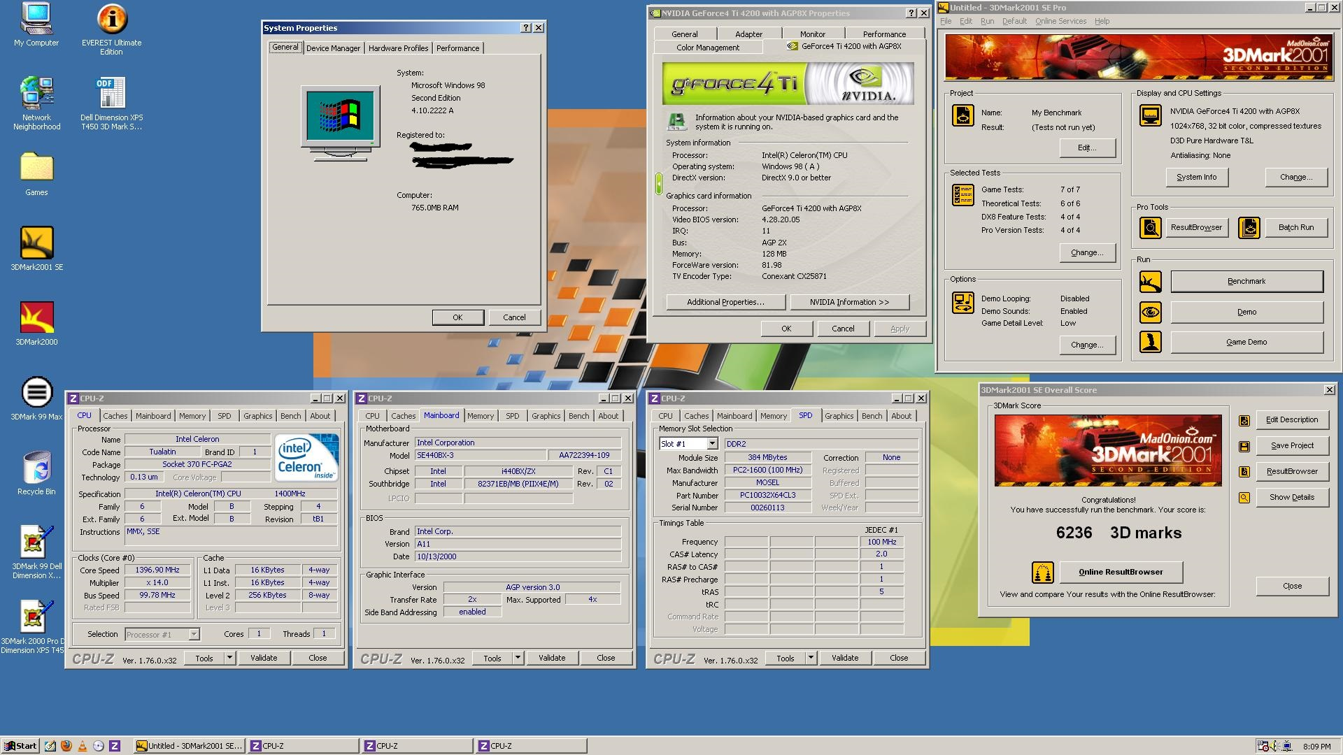 Celeron 1.4GHz, 768MB RAM, Geforce4 Ti4200, 120GB HDD, Windows 98SE.jpg